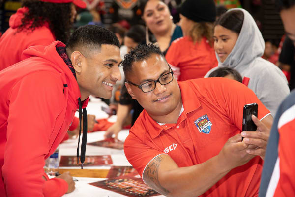 The Tonga Rugby League visit Westfield Manukau