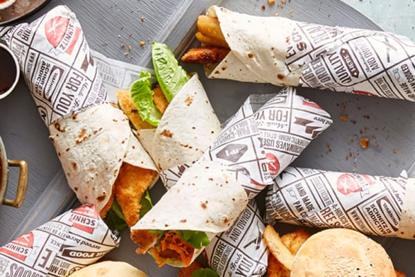 Schnitz: free chips with any wrap or roll purchase