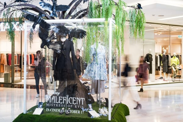 Disney's Maleficent: Mistress of Evil fashion installation