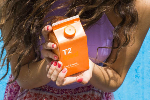 T2: free iced tea with any purchase in store