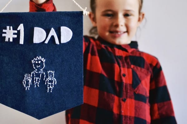 A DIY felt pennant for Father's Day