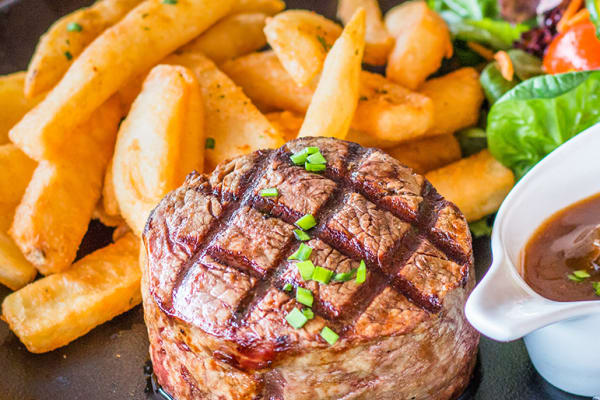 Beach House Bar & Grill: buy one get one free steak on Monday