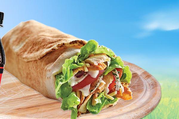 Ali Baba: Regular Garlic Chicken Kebab and drink