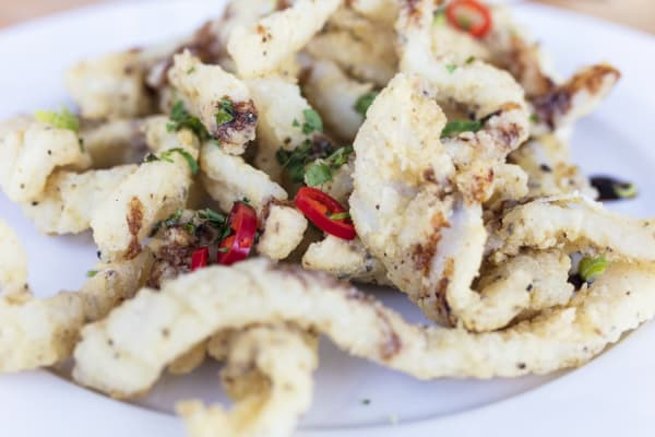 BBQ salt and pepper squid