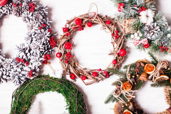 Christmas wreath making: floristry workshop