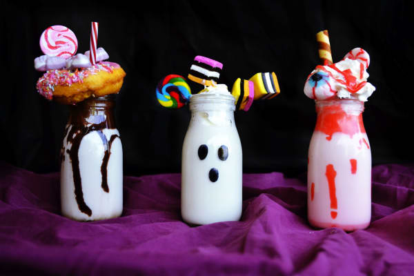 Halloween freakshakes recipe