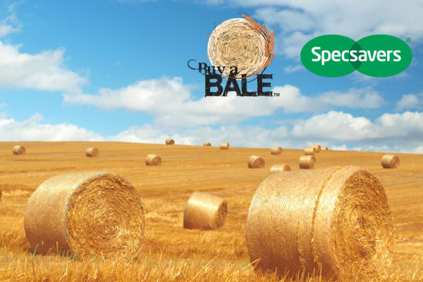 Specsavers partners up with Buy a Bale