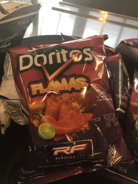A bag of Doritos in a flavor named 'Flamas'.