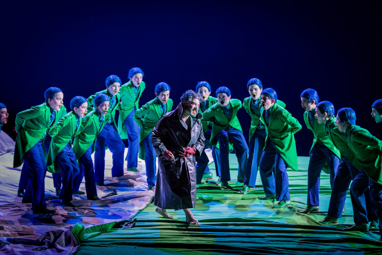 The Trinity Boys Choir And Miltos Yerolemou Puck In A Midsummer Nights Dream English National Opera 2018 Photo Robert Workman