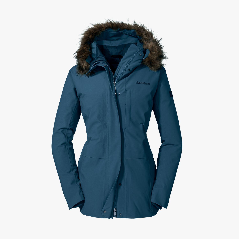 veste pour femme avec fermeture /éclair double sens /à lavant Femme Sch/öffel Down Jacket Budapest L Doudoune chaude et respirante avec taille r/églable