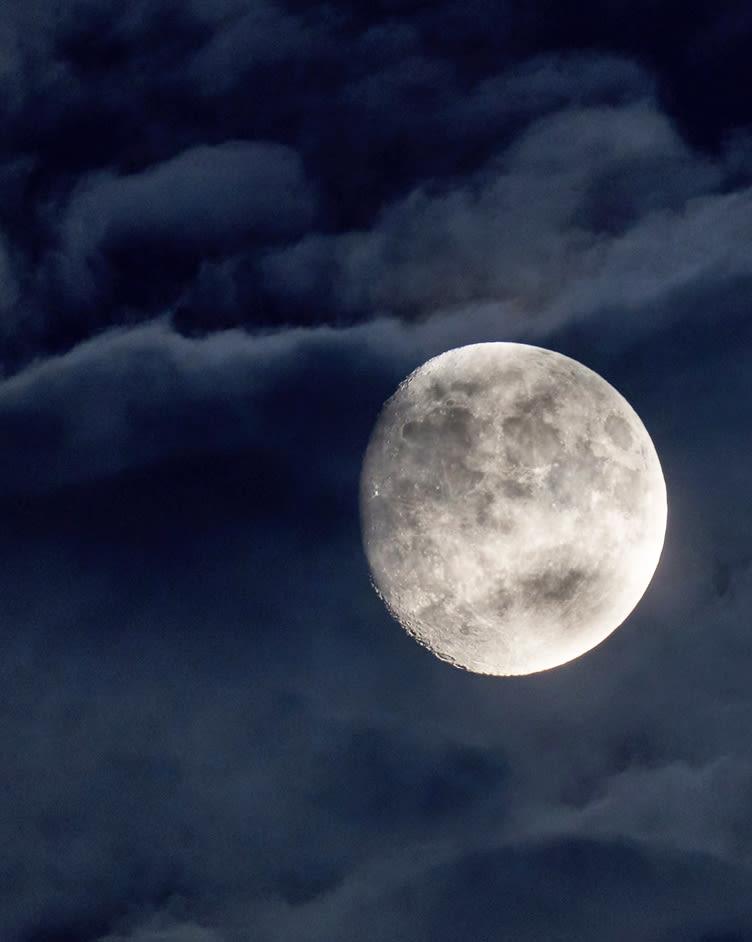 Nachtwanderung Mond