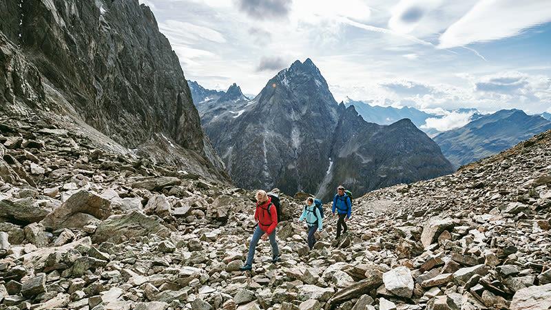 Hochtour drei Wanderer