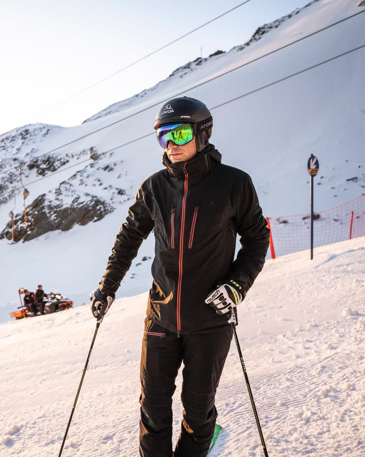 Benni Raich beim Skioutfit Test