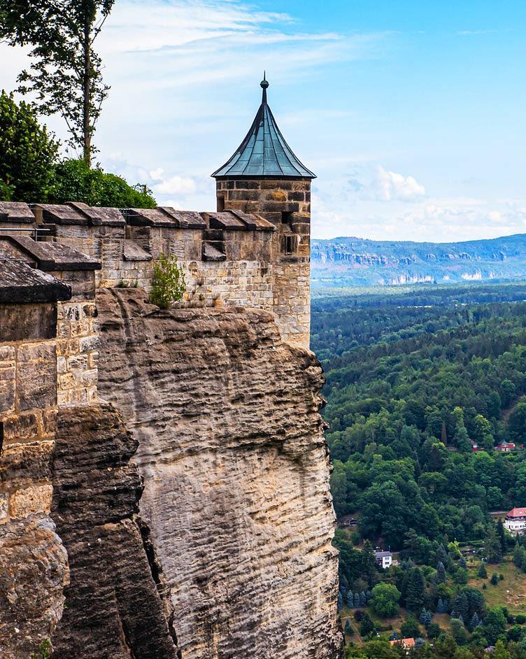 Ausblick von der Festung Königstein