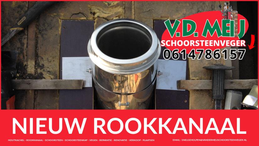 enkel-wandig rookkanaal vervangen in Roelofarendsveen