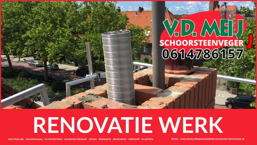 algehele schoorsteen restauratie in Velsen-Noord