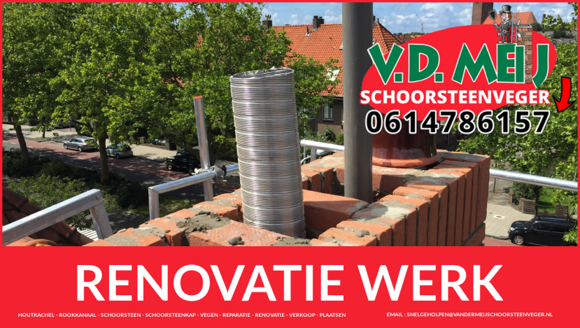 totale schoorsteen restauratie in Katwijk aan den Rijn