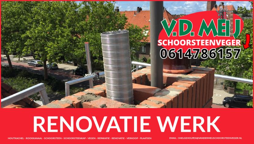 volledige schoorsteenrenovatie in Zoeterwoude-Rijndijk