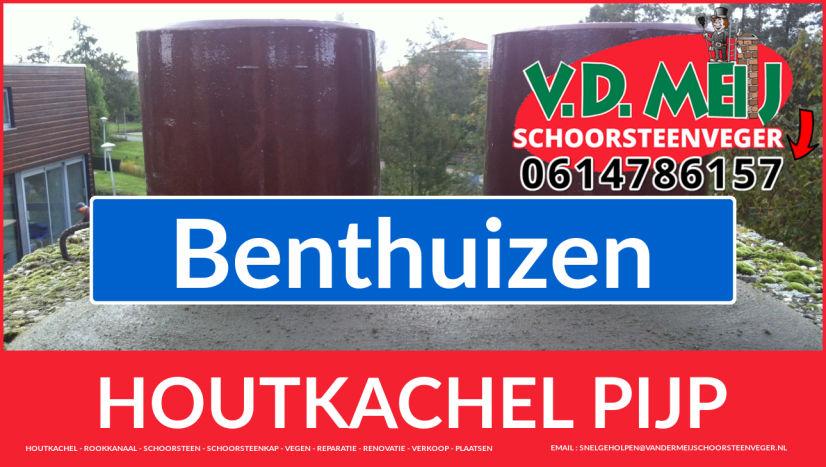 enkel-wandig rookkanaal vervangen in Benthuizen
