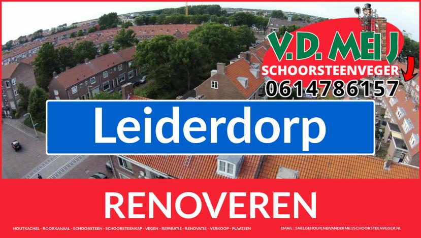 Tot ziens bij Van der Meij schoorsteen renovatie Leiderdorp