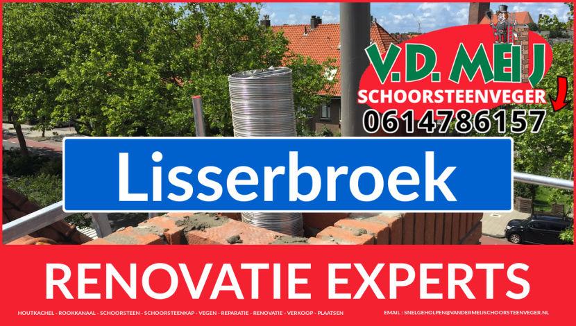 complete schoorsteen renovatie in Lisserbroek