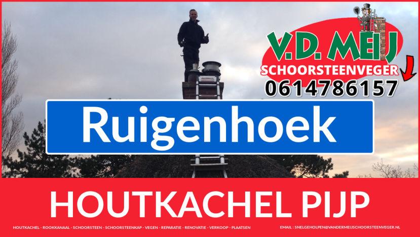 enkel-wandig rookkanaal vervangen in Ruigenhoek