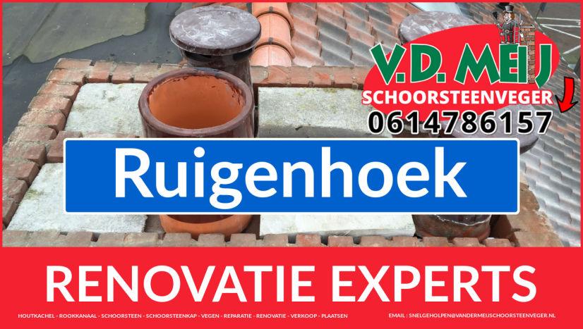 volledige schoorsteenrenovatie in Ruigenhoek