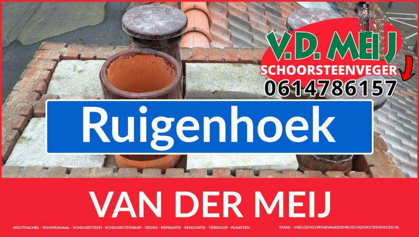 Van der Meij schoorsteen renovatie in Ruigenhoek