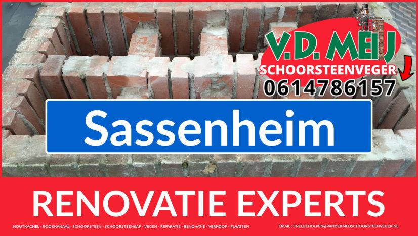 gehele schoorsteen restauratie in Sassenheim