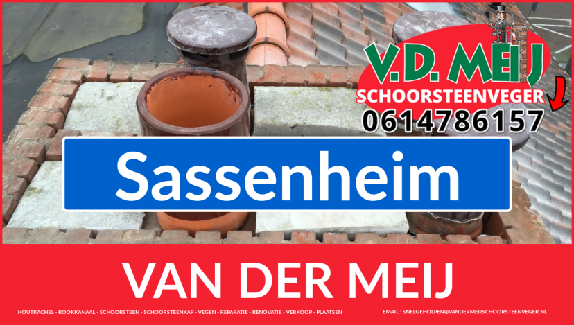 Van der Meij schoorsteen restauratie in Sassenheim