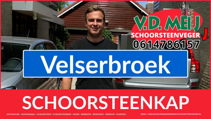 schoorsteen kap plaatsen in Velserbroek