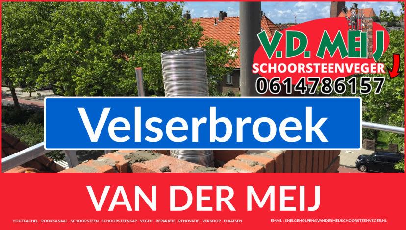 Van der Meij schoorsteen restauratie in Velserbroek