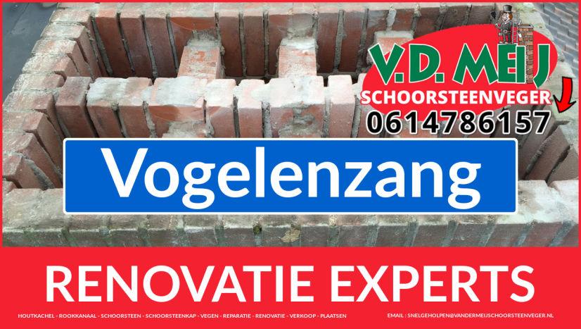 complete schoorsteen renovatie in Vogelenzang