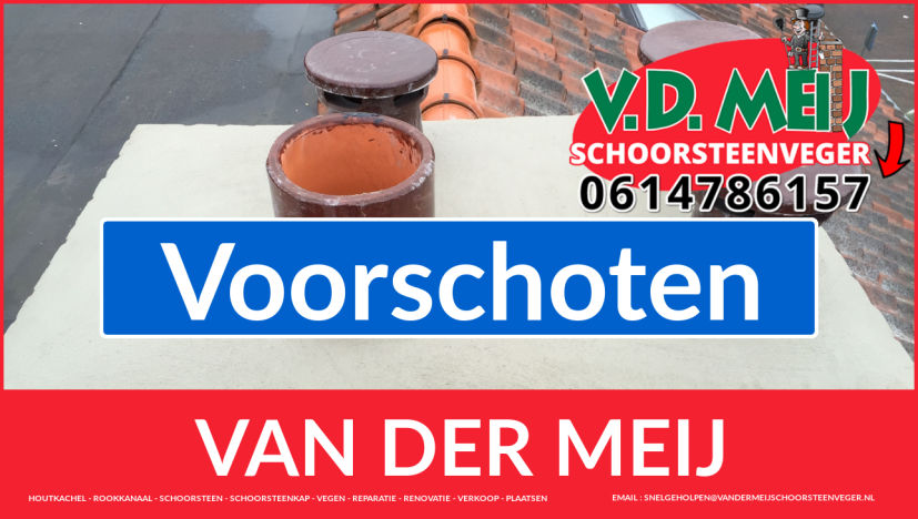 Van der Meij schoorsteen restauratie in Voorschoten