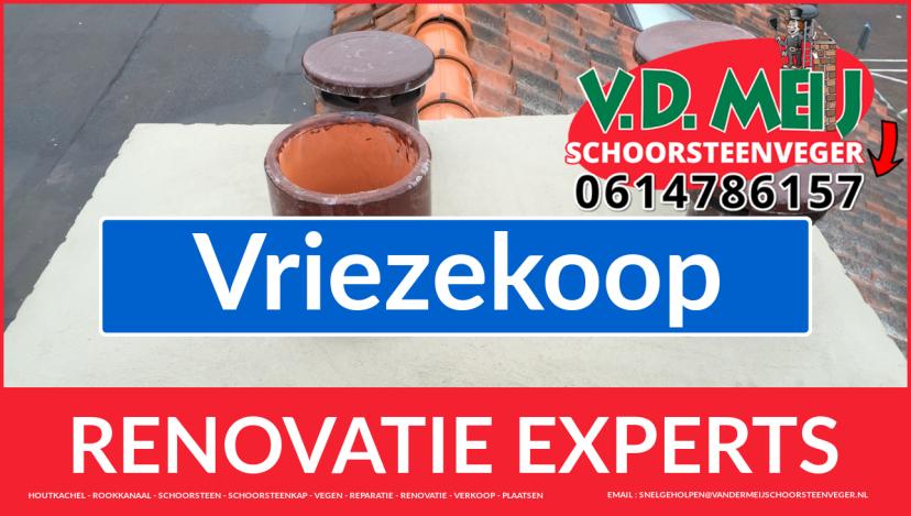 complete schoorsteen renovatie in Vriezekoop