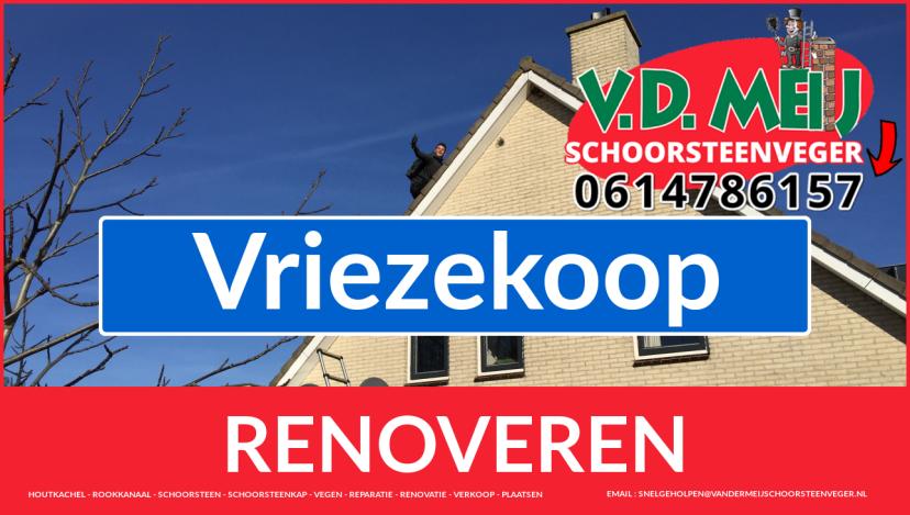 bedankt voor uw bezoek aan Van der Meij schoorsteenrenovatie Vriezekoop