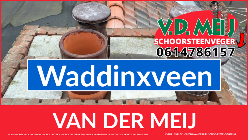 Van der Meij schoorsteenrenovatie in Waddinxveen