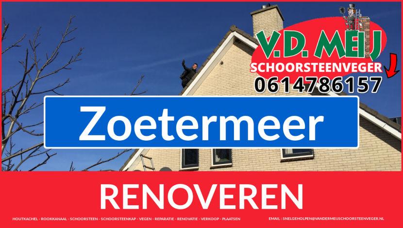 Tot ziens bij Van der Meij schoorsteen renovatie Zoetermeer