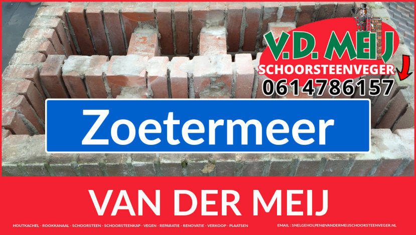Van der Meij schoorsteen renovatie in Zoetermeer
