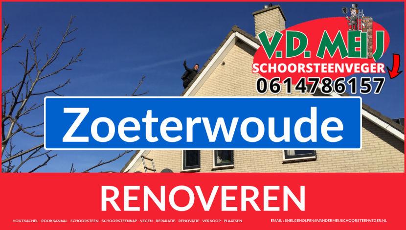 Tot ziens bij Van der Meij schoorsteen restauratie Zoeterwoude