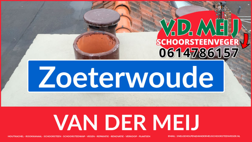 Van der Meij schoorsteen renovatie in Zoeterwoude