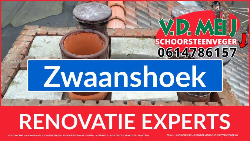 complete schoorsteen restauratie in Zwaanshoek