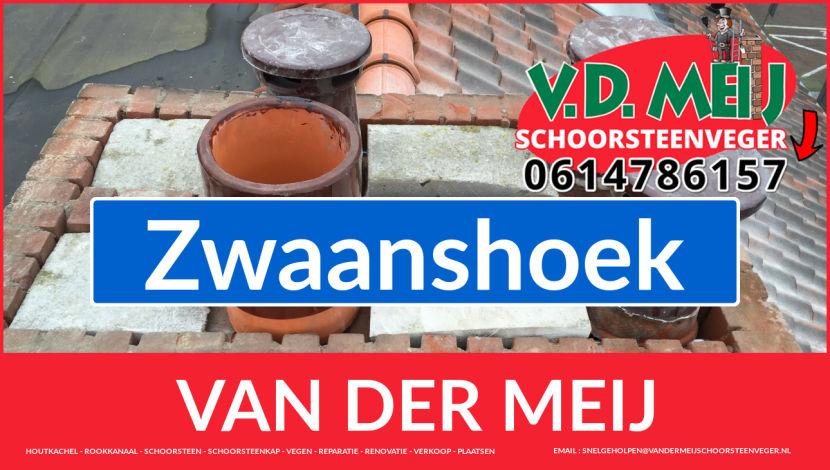 Van der Meij schoorsteen restauratie in Zwaanshoek