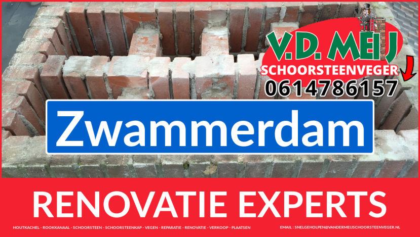 complete schoorsteenrenovatie in Zwammerdam