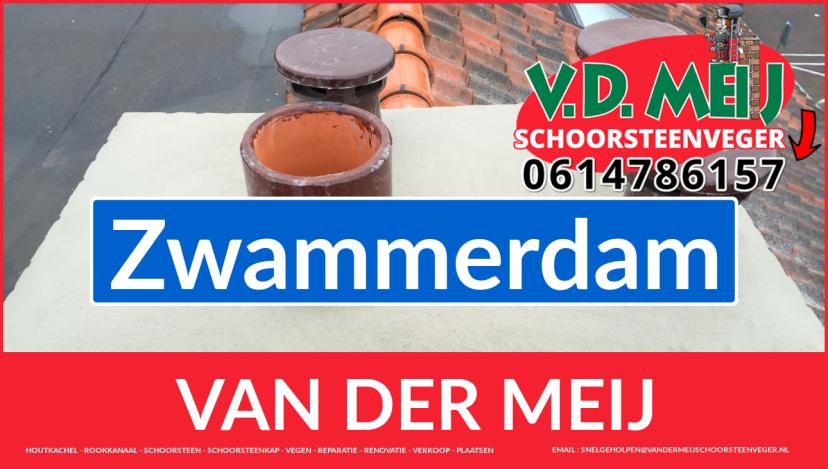 Van der Meij schoorsteen renovatie in Zwammerdam