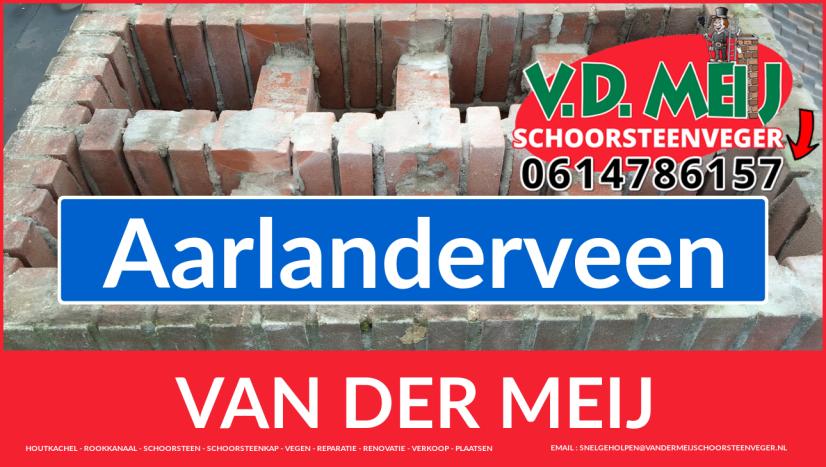 Van der Meij schoorsteen renovatie in Aarlanderveen