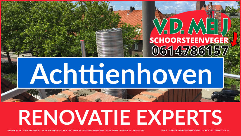 totale schoorsteenrenovatie in Achttienhoven