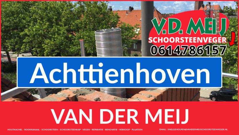 Van der Meij schoorsteen restauratie in Achttienhoven