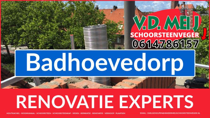 volledige schoorsteen restauratie in Badhoevedorp