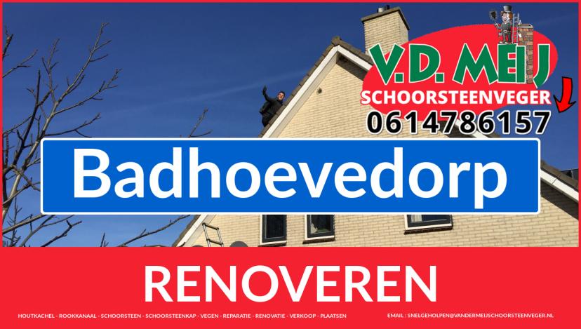 Tot ziens bij Van der Meij schoorsteenrenovatie Badhoevedorp